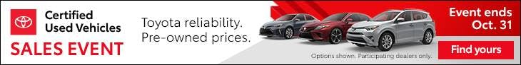 Toyota TCUV Incentives